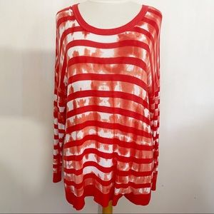 LANE BRYANT stripe/print pullover sweater 14/16